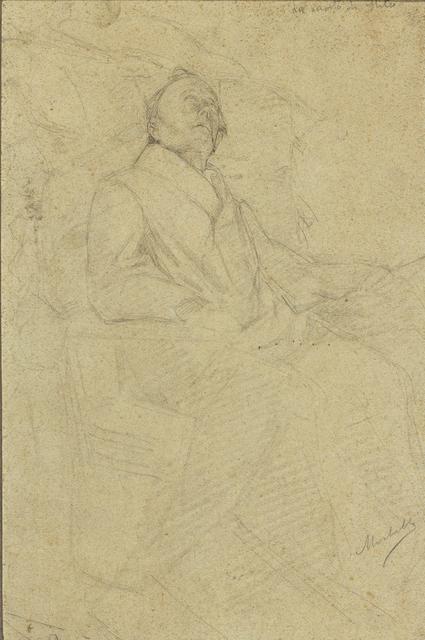Angelo Morbelli, 'The death of Goethe', Pencil on paper, Bertolami Fine Arts