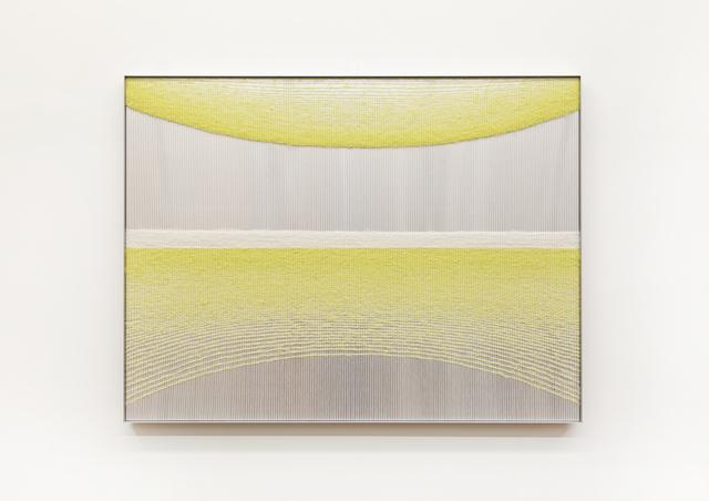Mimi Jung, '100317 Yellow Ellipses', 2020, Textile Arts, Mohair, cotton, aluminum sheet and aluminum frame, Carvalho Park