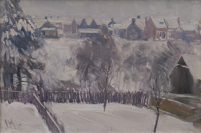, 'Backyard, West Toronto,' 1912, Canadian Fine Arts