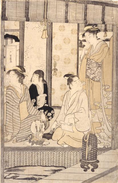 Hosoda Eishi, 'Morning Glory (Asago)', about 1791, Indianapolis Museum of Art at Newfields