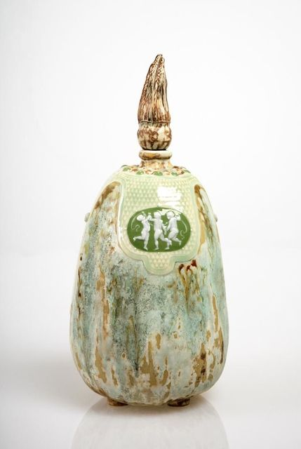 Taxile Doat, 'Putti Medallion Gourd', 1903, Jason Jacques Gallery