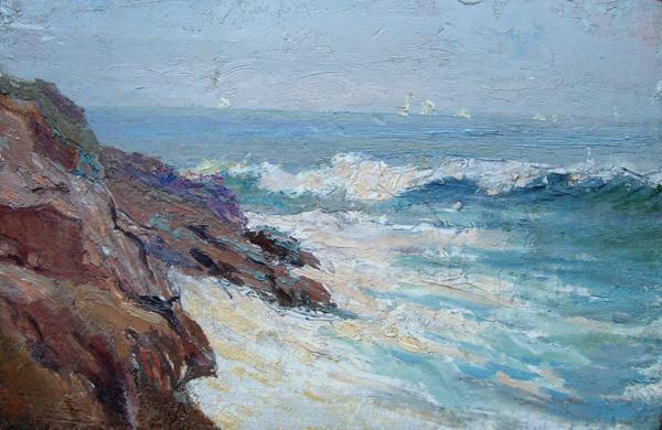 William Partridge Burpee, 'Surf and Rocks, Maine Coast', ca. 1915, Childs Gallery