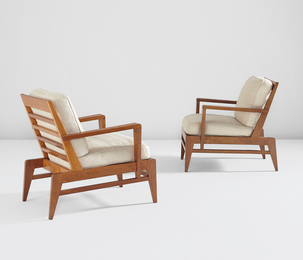 René Gabriel, 'Pair of armchairs,' 1940s, Phillips: Design