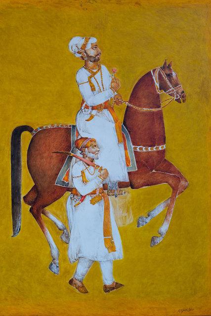 , 'Ahmed Shah on Horseback,' 2016, Albemarle Gallery   Pontone Gallery