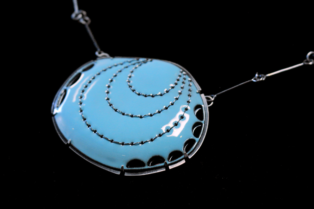 Lisa Crowder, 'Blue Stitch Pendant', 2018, Palette Contemporary Art and Craft
