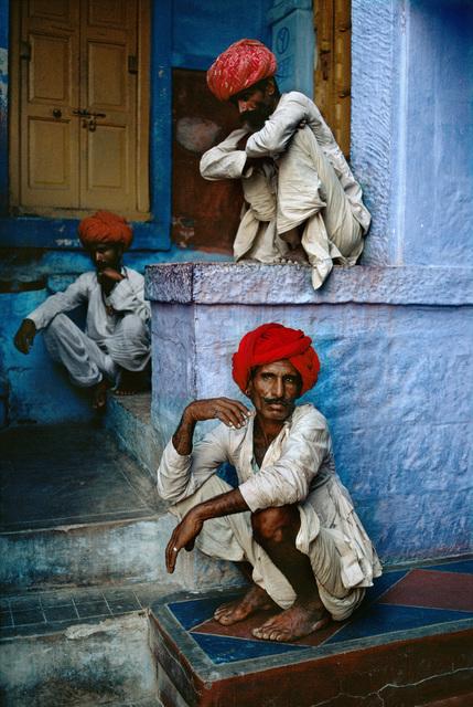 , 'THREE MEN ON STEPS, JODHPUR, INDIA,' 1996, Huxley-Parlour