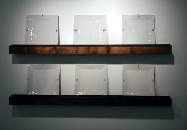 , 'Set of 3 Plates on a Shelf (x 2),' 2014, JAYJAY