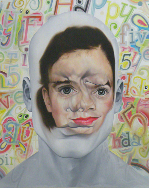 , 'Face FS160 Happy Five Bridget B ( Elegy to C.Demuth and J.Johns),' 2013, Galerie Richard