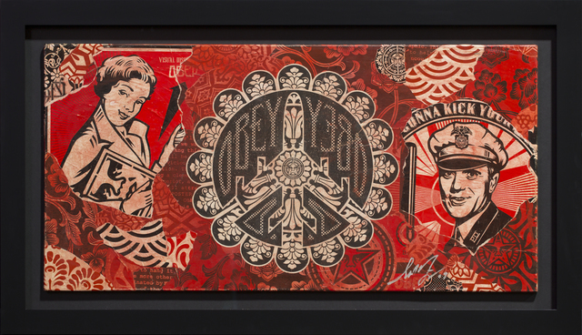 Shepard Fairey (OBEY), 'Peace black red', 2009, Rudolf Budja Gallery