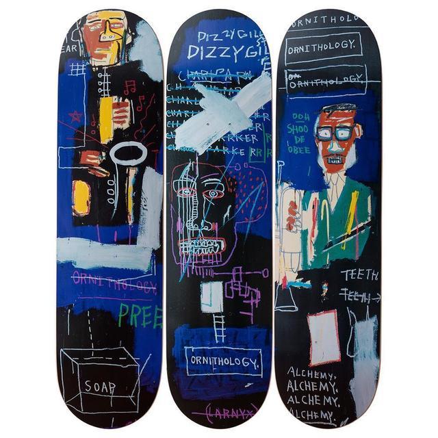 "Jean-Michel Basquiat, '""Horn Players"" Skatedeck Triptych', 2019, LongHouse Reserve: Benefit Auction 2019"