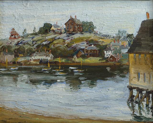 Max Kuehne, 'Gloucester Harbor ', Date Unknown, Questroyal Fine Art