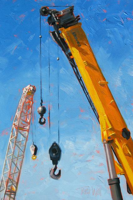 , 'Crane Conversation,' 2014, Abend Gallery