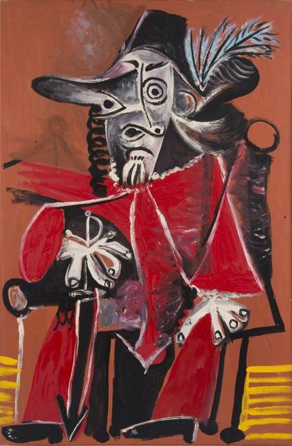 , 'Mousquetaire à l'épée assis,' 1969, Gagosian