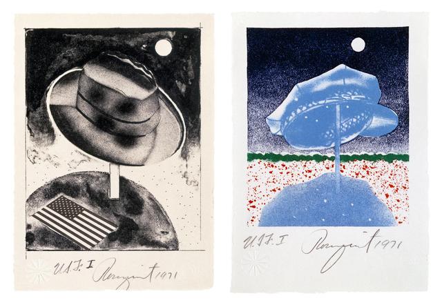James Rosenquist, 'Fedora and Delivery Hat', 1971, Brooke Alexander, Inc.
