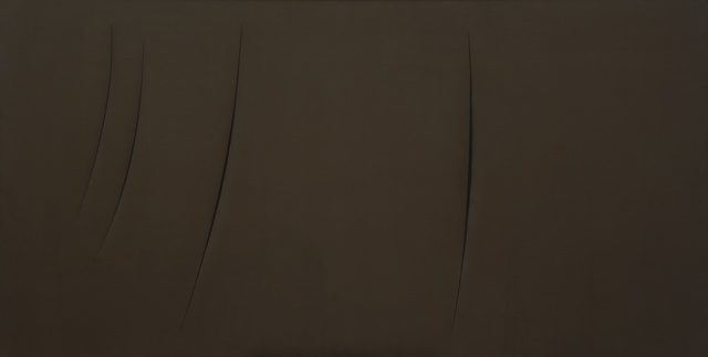 , 'Concetto Spaziale, Attese,' 1959, Guggenheim Museum