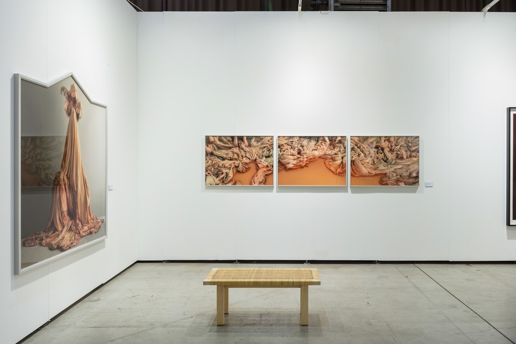 Installation view, duo presentation with Lovisa Ringborg and Fredrik Söderberg, Cecilia Hillström Gallery, viennacontemporary 2018. Photo: kunst.dokumentation.com