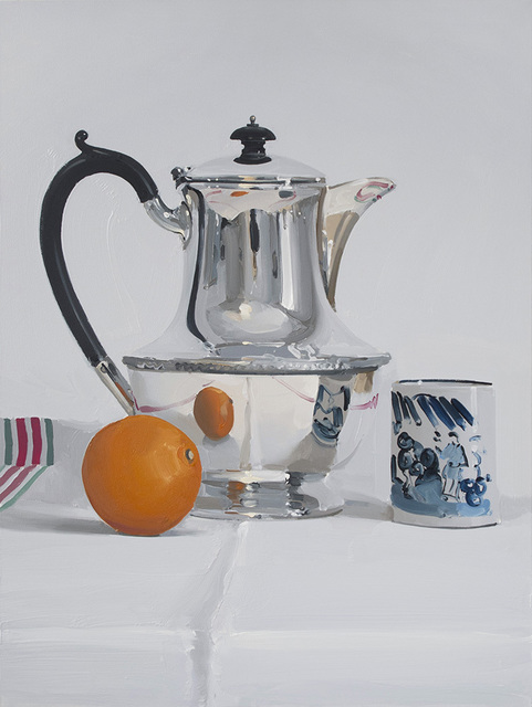 , 'Silver coffee pot with mandarin and cup,' , Panter & Hall