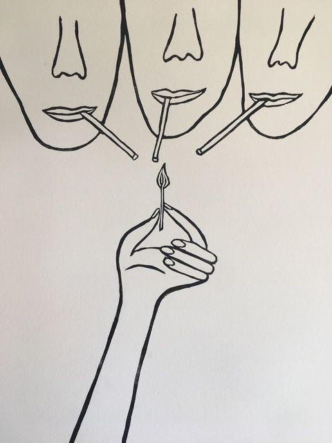 , 'Three Enemies at the Bar,' 2017, Phylogeny Contemporary