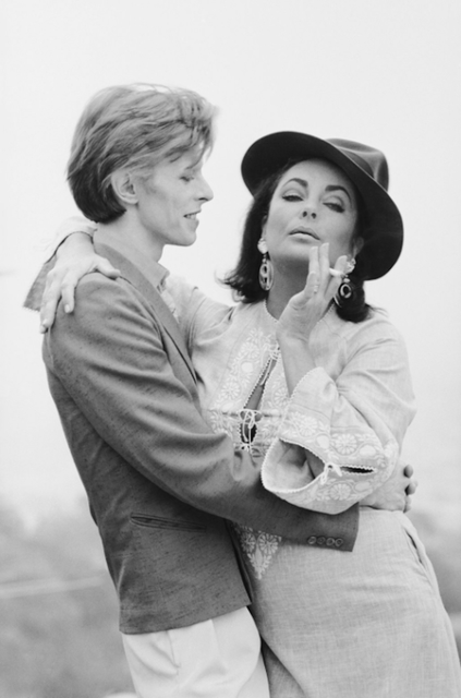 , 'David Bowie and Elizabeth Taylor, Beverly Hills, 1975,' 1975, Hilton Asmus