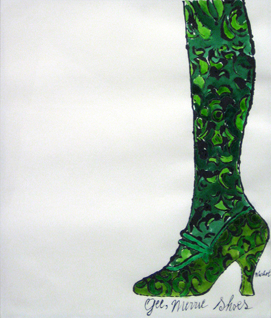 Andy Warhol, 'Gee, Merrie Shoes (Green)', 1956, Collectors Contemporary