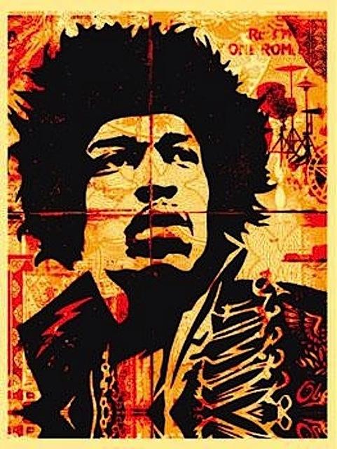 Shepard Fairey (OBEY), 'Hendrix', 2004, Gregg Shienbaum Fine Art