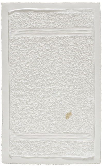 , 'Three Stripe Hand Towel (with Stain),' 2014, Mixografia
