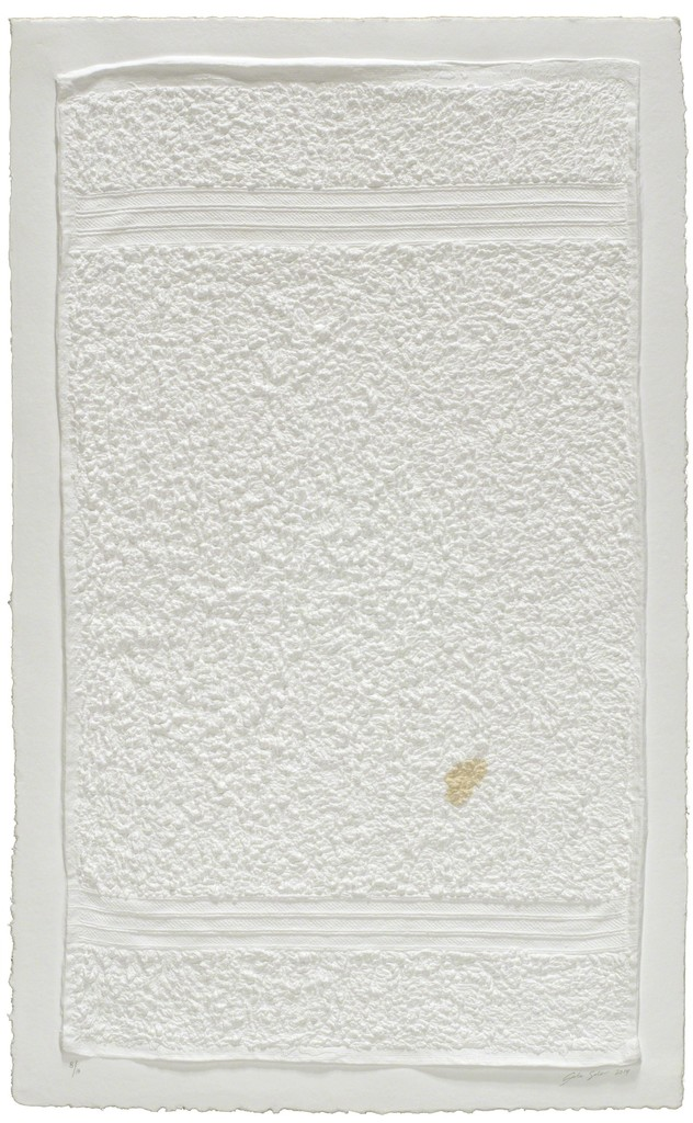 Three Stripe Hand Towel (with Stain)
