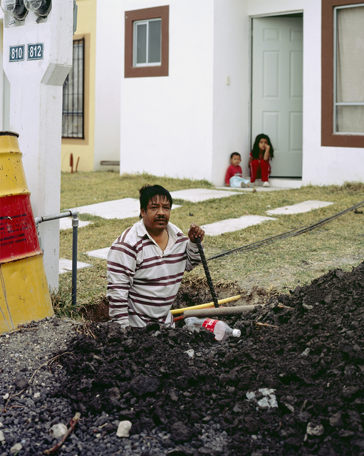 , 'Man Digging Hole To Build A Fence For His New House In Juarez Suburb,' 2009, SOCO GALLERY
