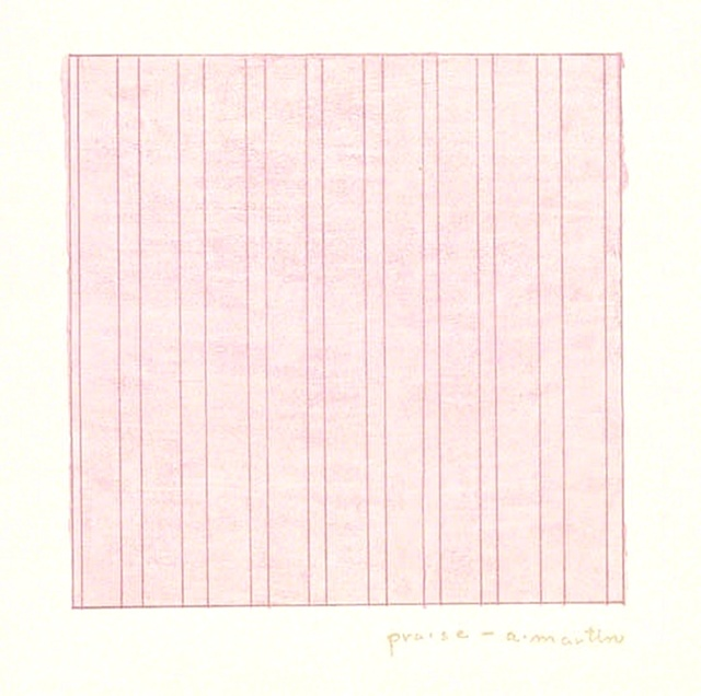 Agnes Martin, 'Praise (for the Museum of Modern Art)', 1976, Print, Lithograph on Dalton Natural Bond paper (Plate Signed in Gold), Alpha 137 Gallery Gallery Auction