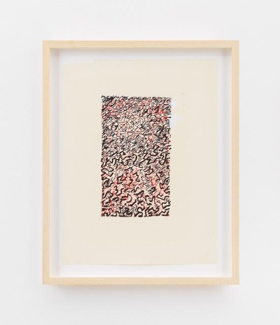 , 'Design (black and red),' ca. 1980, David Zwirner