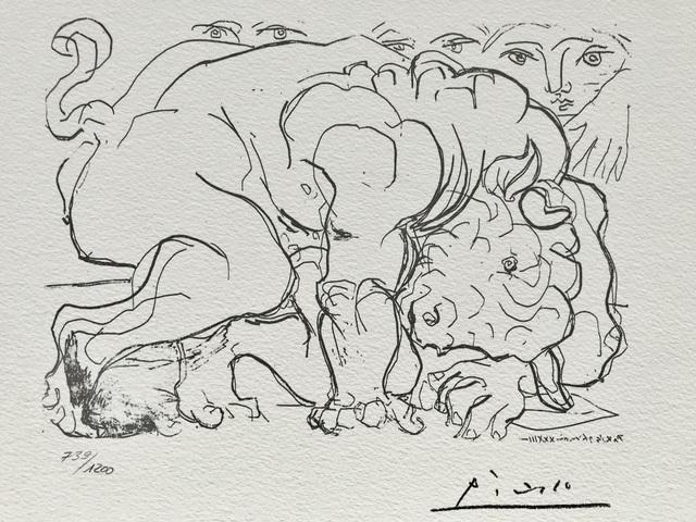 Pablo Picasso, 'Minotaure mourant (Suite Vollard Planche LXXXVIII)', 1973, ByNewArt