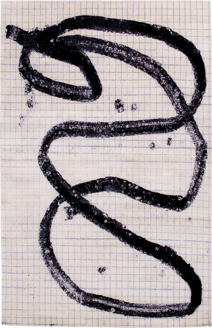 , 'Jim Joe Notepad Scribble,' 2016, Joseph Carini Carpets