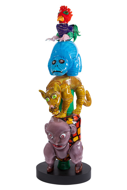 'Robert Zeppel-Sperl For Berengo Studio Blown Glass Four-Tiered Animal Sculpture Titled Totem Pole Surprise', Doyle
