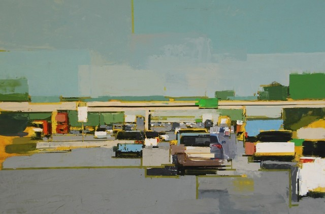 , 'Freeway No. 9 / oil on panel,' 2019, Andra Norris Gallery
