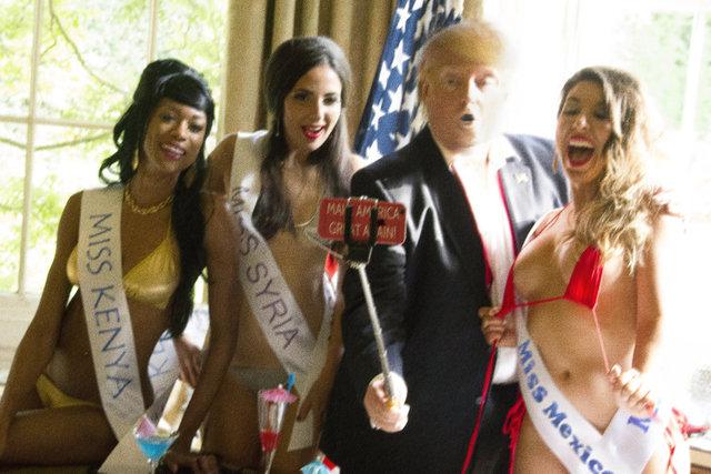 , 'Trump  Selfie with  Miss Universe ,' 2016, Raffaella De Chirico