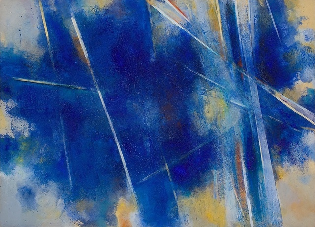 , '1.1 (Splintered Light- Toledo Blue),' 1985, Piano Nobile