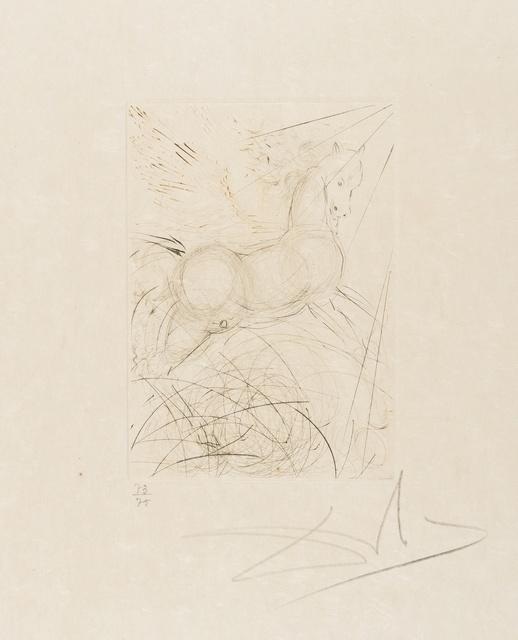 Salvador Dalí, 'Pegasus (from Quinze Gravures) (M&L 291b; Field 68-4-A)', 1968, Forum Auctions