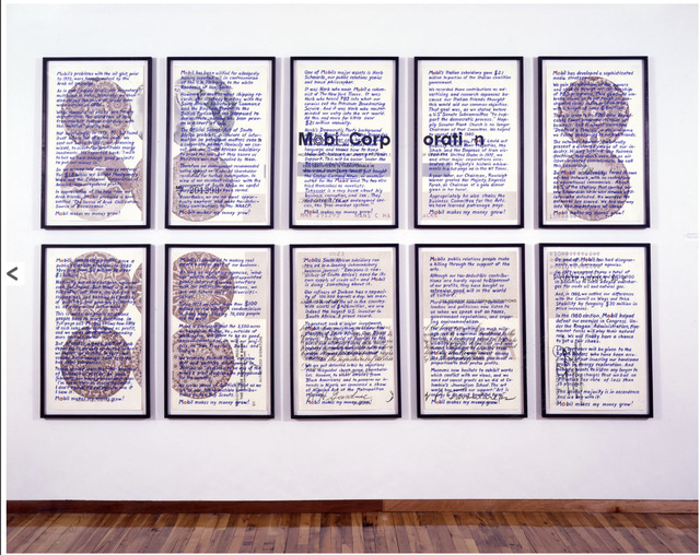 , 'Upstairs at Mobil: Musings at a Shareholder,' 1981, Richard Saltoun