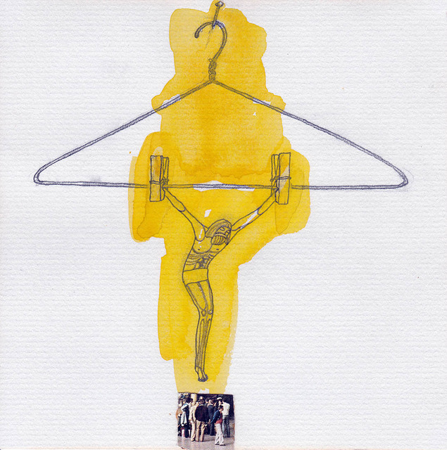 ", 'Drawing #75 from the cycle of 150 drawings ""Crucifixion for the Fisherman"",' 1991-1992, SARIEV Contemporary"