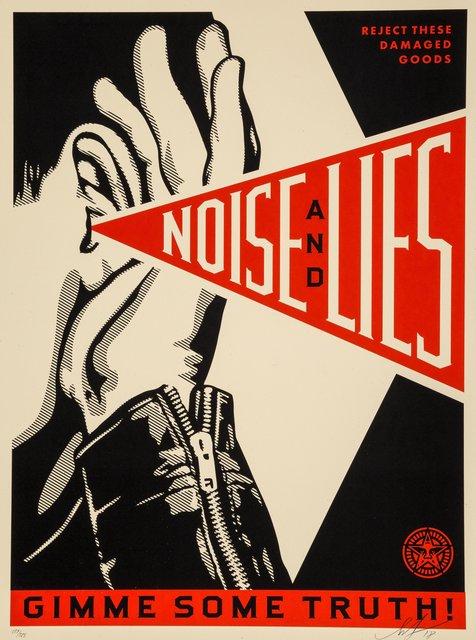 Shepard Fairey, 'Noise & Lies (Black)', 2018, Heritage Auctions