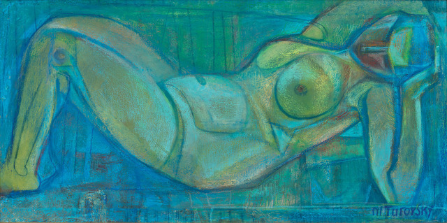, 'Nude in Blue,' ca. 2000, Vail International Gallery