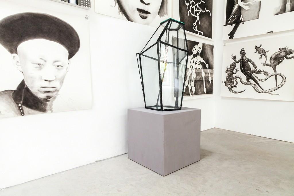 "exhibition view: ""Melancholia Transparent"" 2013 | Glas,Silikon 67cm h | image: ©dasesszimmer"