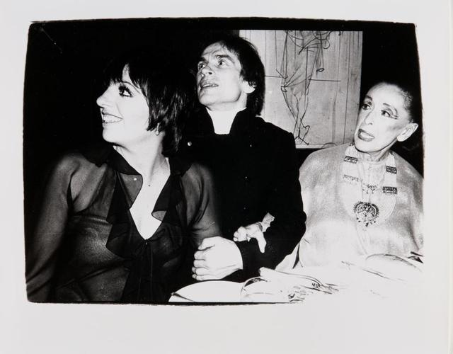 Andy Warhol, 'Andy Warhol, Photograph of Liza Minnelli, Rudolf Nureyev and Martha Graham, 1980', 1980, Hedges Projects