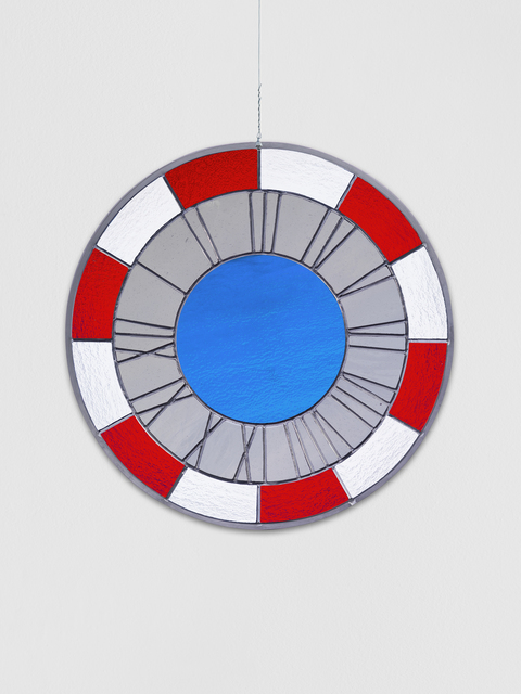 , 'red grey blue clock,' 2012, Krobath