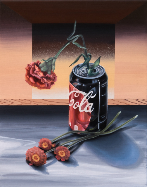 , 'Mulberry Street (Coke and Flowers),' 2019, The Painting Center