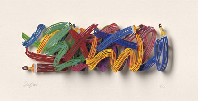 David Gerstein, 'XX Why - Paper cut ', 2007, Galerie Duret