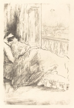 James Abbott McNeill Whistler, 'By the Balcony', 1896, Print, Lithograph in black on wove paper, National Gallery of Art, Washington, D.C.