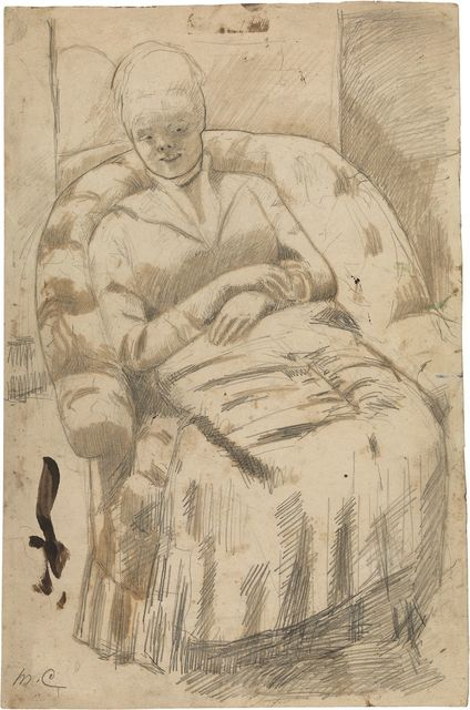 ", 'Drawing for ""The Round-Backed Armchair"",' ca. 1881, Adelson Galleries"