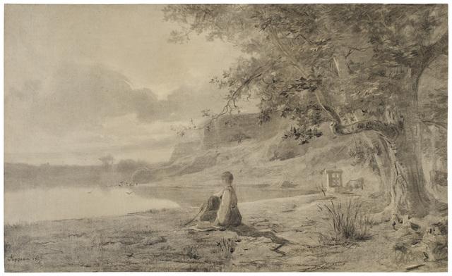 , 'Femme au Bord d'un Etang,' 1865, Armstrong Fine Art
