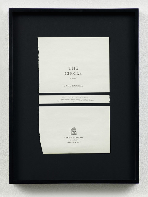 , 'Disclaimers (Dave Eggers: The Circle),' 2014, Galeri NON